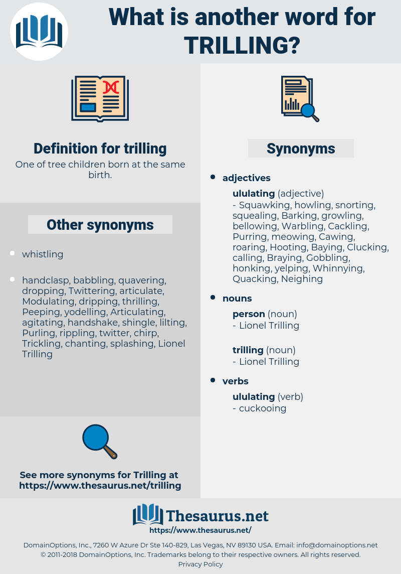 trilling, synonym trilling, another word for trilling, words like trilling, thesaurus trilling