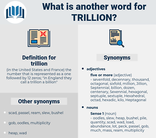 trillion, synonym trillion, another word for trillion, words like trillion, thesaurus trillion