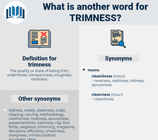 trimness, synonym trimness, another word for trimness, words like trimness, thesaurus trimness