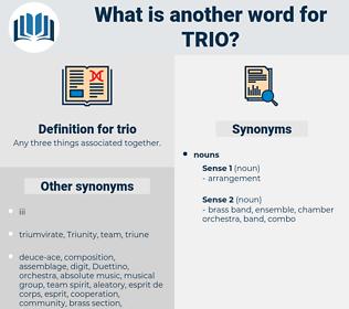trio, synonym trio, another word for trio, words like trio, thesaurus trio