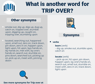 trip over, synonym trip over, another word for trip over, words like trip over, thesaurus trip over