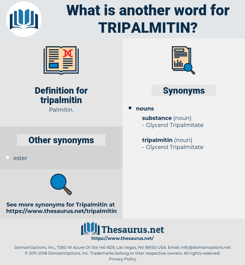 tripalmitin, synonym tripalmitin, another word for tripalmitin, words like tripalmitin, thesaurus tripalmitin