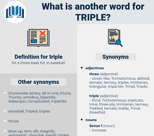 triple, synonym triple, another word for triple, words like triple, thesaurus triple