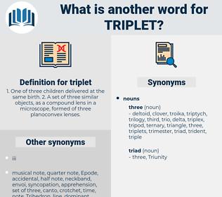 triplet, synonym triplet, another word for triplet, words like triplet, thesaurus triplet
