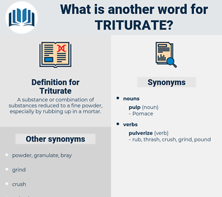 Triturate, synonym Triturate, another word for Triturate, words like Triturate, thesaurus Triturate