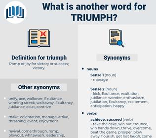 triumph, synonym triumph, another word for triumph, words like triumph, thesaurus triumph