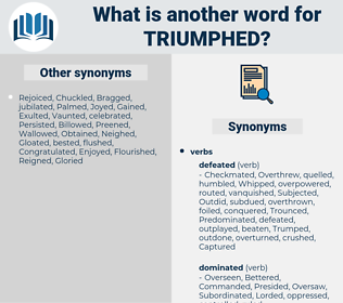 Triumphed, synonym Triumphed, another word for Triumphed, words like Triumphed, thesaurus Triumphed