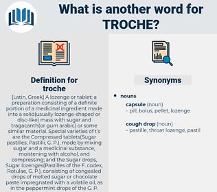 troche, synonym troche, another word for troche, words like troche, thesaurus troche