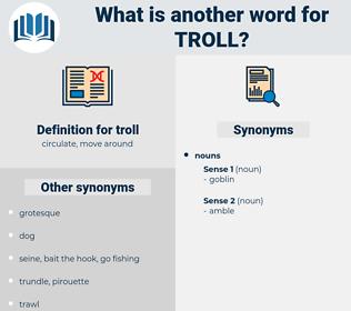 troll, synonym troll, another word for troll, words like troll, thesaurus troll