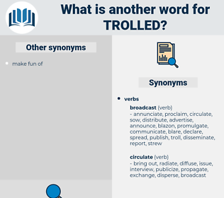 Trolled, synonym Trolled, another word for Trolled, words like Trolled, thesaurus Trolled