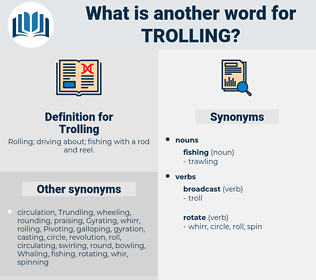 Trolling, synonym Trolling, another word for Trolling, words like Trolling, thesaurus Trolling