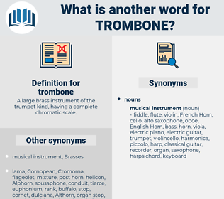 trombone, synonym trombone, another word for trombone, words like trombone, thesaurus trombone