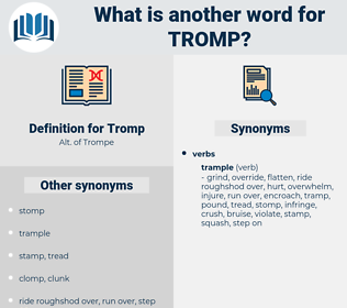Tromp, synonym Tromp, another word for Tromp, words like Tromp, thesaurus Tromp