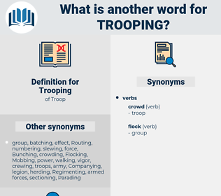 Trooping, synonym Trooping, another word for Trooping, words like Trooping, thesaurus Trooping