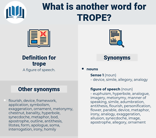 trope, synonym trope, another word for trope, words like trope, thesaurus trope