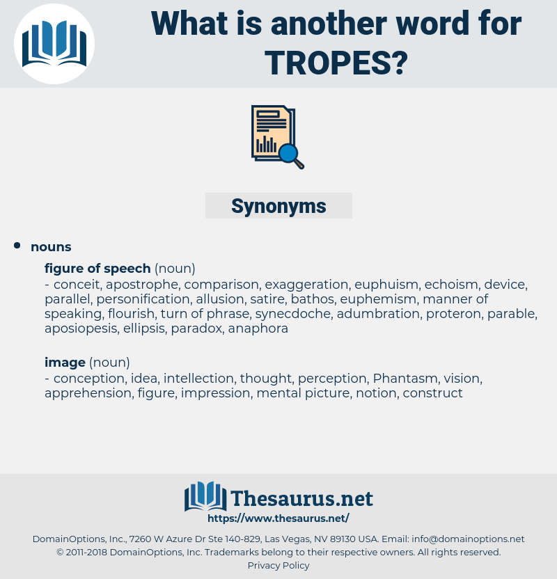 tropes, synonym tropes, another word for tropes, words like tropes, thesaurus tropes