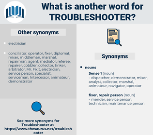 troubleshooter, synonym troubleshooter, another word for troubleshooter, words like troubleshooter, thesaurus troubleshooter