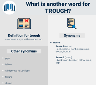 trough, synonym trough, another word for trough, words like trough, thesaurus trough