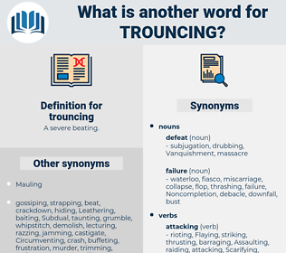 trouncing, synonym trouncing, another word for trouncing, words like trouncing, thesaurus trouncing