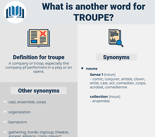 troupe, synonym troupe, another word for troupe, words like troupe, thesaurus troupe