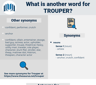 trouper, synonym trouper, another word for trouper, words like trouper, thesaurus trouper