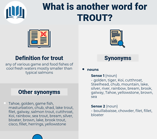 trout, synonym trout, another word for trout, words like trout, thesaurus trout