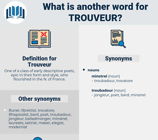 Trouveur, synonym Trouveur, another word for Trouveur, words like Trouveur, thesaurus Trouveur