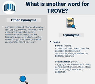 trove, synonym trove, another word for trove, words like trove, thesaurus trove