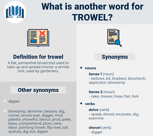 trowel, synonym trowel, another word for trowel, words like trowel, thesaurus trowel