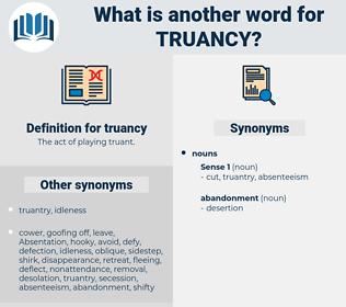 truancy, synonym truancy, another word for truancy, words like truancy, thesaurus truancy