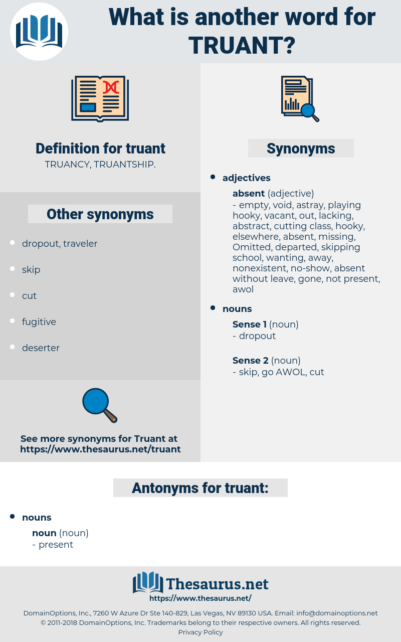 truant, synonym truant, another word for truant, words like truant, thesaurus truant