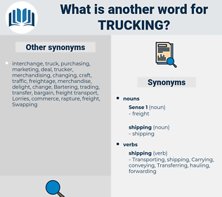 trucking, synonym trucking, another word for trucking, words like trucking, thesaurus trucking