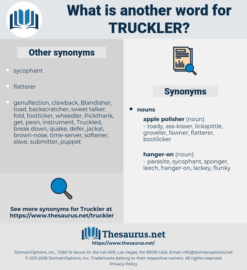 truckler, synonym truckler, another word for truckler, words like truckler, thesaurus truckler