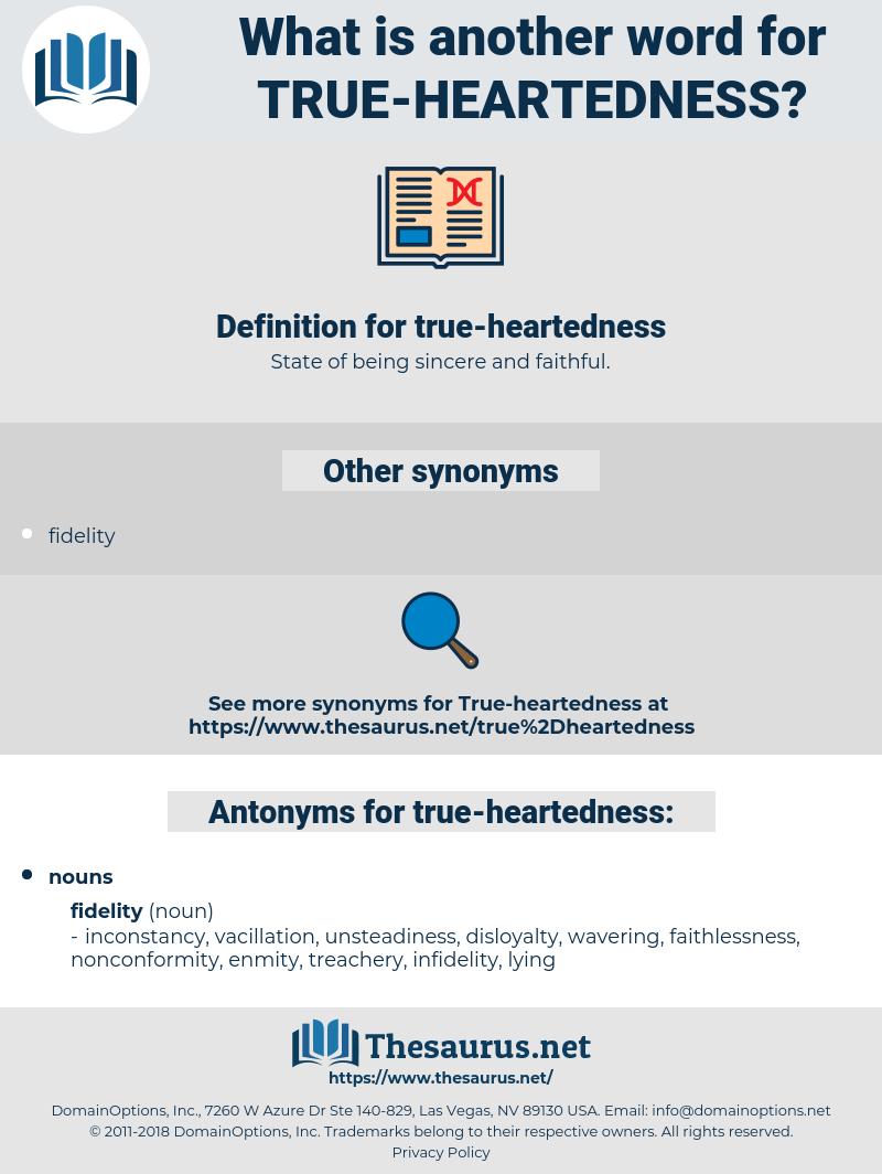 true heartedness, synonym true heartedness, another word for true heartedness, words like true heartedness, thesaurus true heartedness