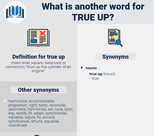 true up, synonym true up, another word for true up, words like true up, thesaurus true up