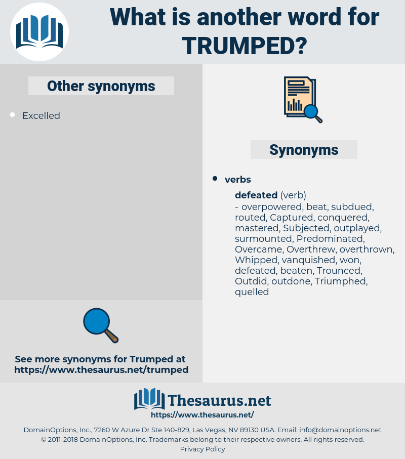 Trumped, synonym Trumped, another word for Trumped, words like Trumped, thesaurus Trumped