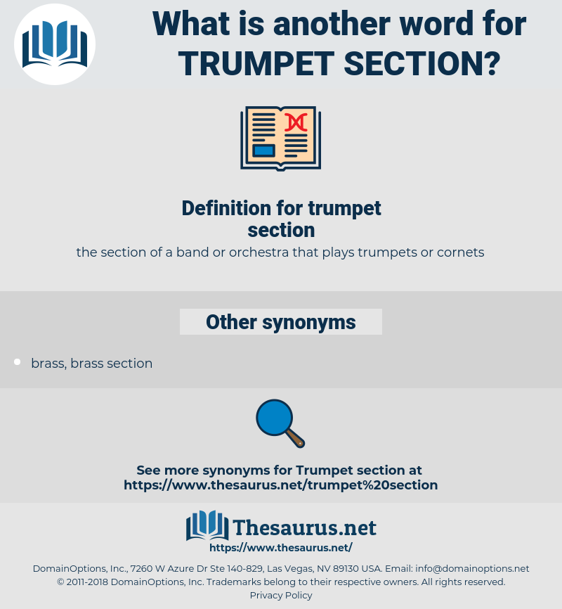 trumpet section, synonym trumpet section, another word for trumpet section, words like trumpet section, thesaurus trumpet section