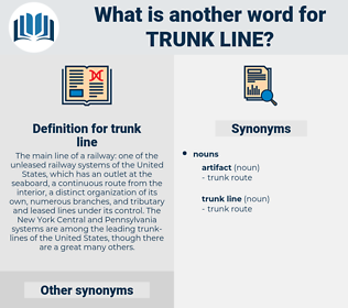 trunk line, synonym trunk line, another word for trunk line, words like trunk line, thesaurus trunk line