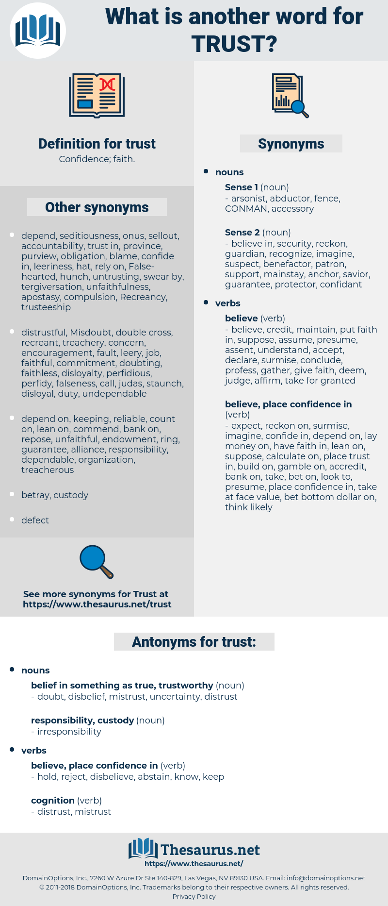 trust, synonym trust, another word for trust, words like trust, thesaurus trust