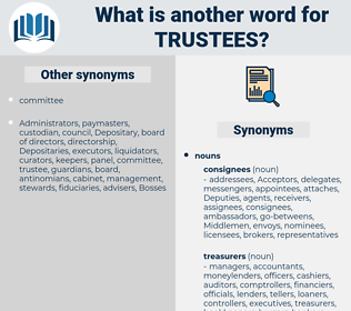 Trustees, synonym Trustees, another word for Trustees, words like Trustees, thesaurus Trustees