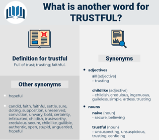 trustful, synonym trustful, another word for trustful, words like trustful, thesaurus trustful