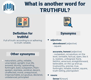 truthful, synonym truthful, another word for truthful, words like truthful, thesaurus truthful