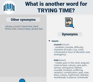trying time, synonym trying time, another word for trying time, words like trying time, thesaurus trying time