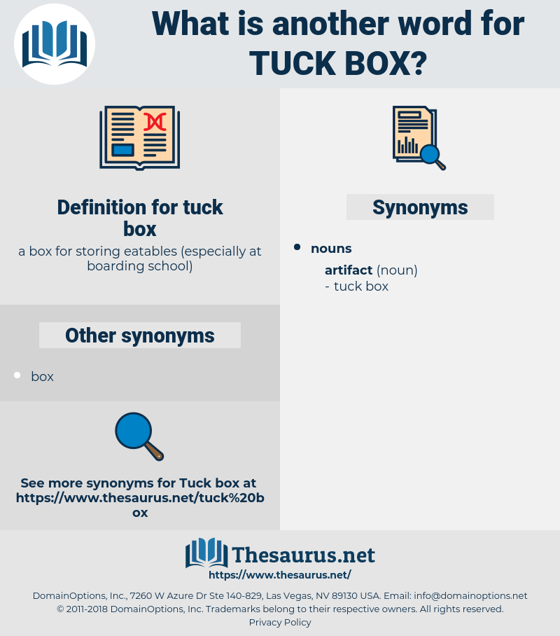 tuck box, synonym tuck box, another word for tuck box, words like tuck box, thesaurus tuck box