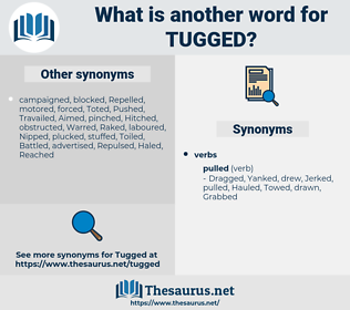 Tugged, synonym Tugged, another word for Tugged, words like Tugged, thesaurus Tugged