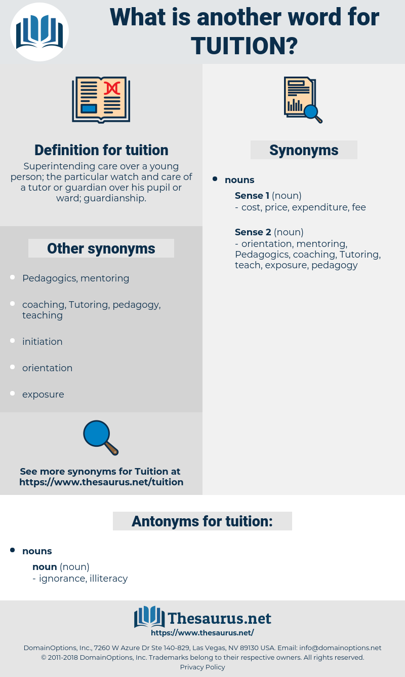 tuition, synonym tuition, another word for tuition, words like tuition, thesaurus tuition
