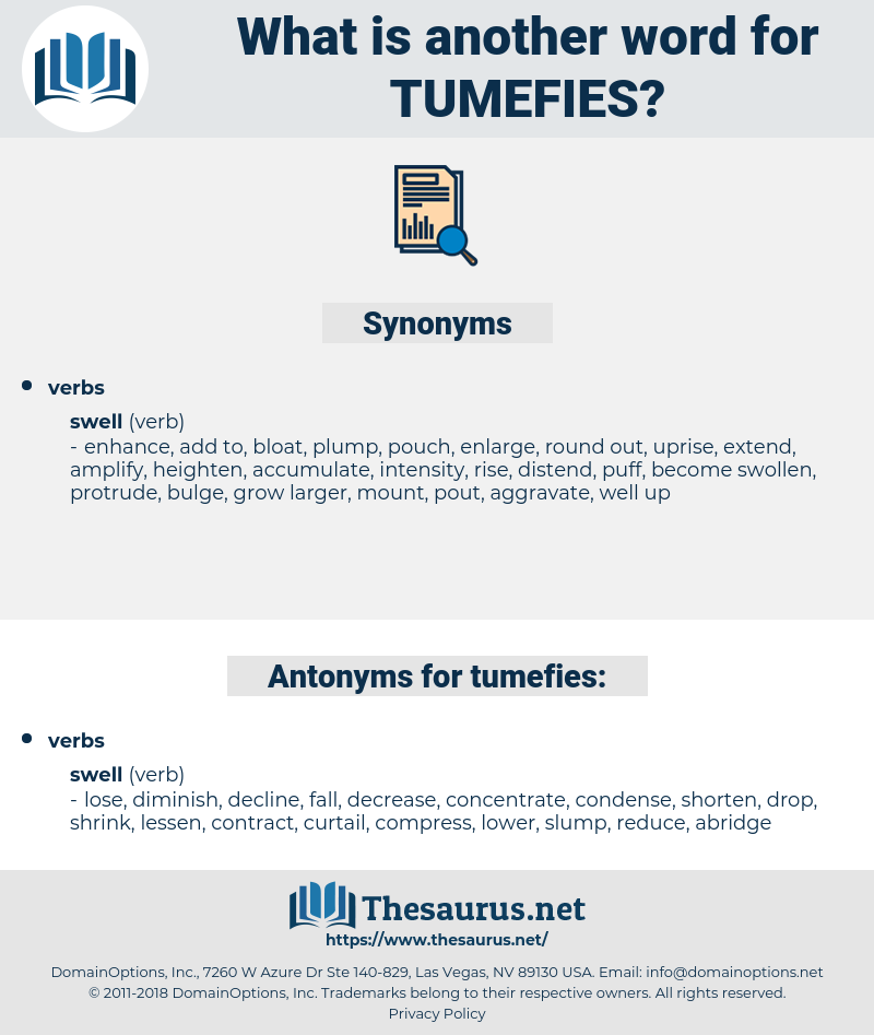 tumefies, synonym tumefies, another word for tumefies, words like tumefies, thesaurus tumefies