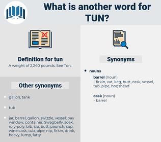 tun, synonym tun, another word for tun, words like tun, thesaurus tun