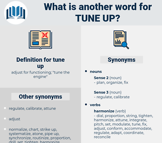 tune up, synonym tune up, another word for tune up, words like tune up, thesaurus tune up