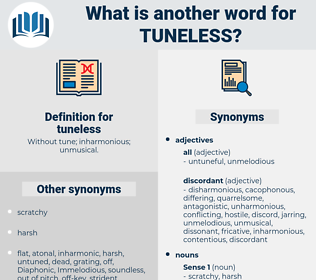 tuneless, synonym tuneless, another word for tuneless, words like tuneless, thesaurus tuneless